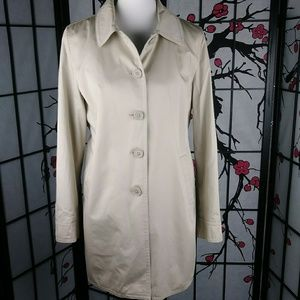 Coach Trench Coat Classic Khaki Button Down Lined